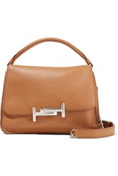 Tod's Double T Leather Shoulder Bag Tan