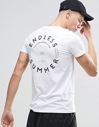 Asos T Shirt With Endless Summer Back Print White