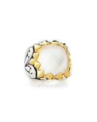 Stephen Webster Superstud Baroque Square Cocktail Ring W Mother Of Pearl Doublet 20.65 Tcw