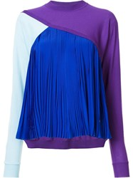 Vionnet Pleated Detailing Jumper Pink Purple