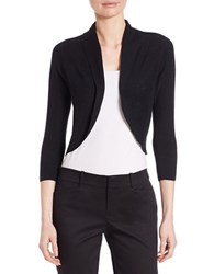 Lord And Taylor Petite Cropped Shrug Black