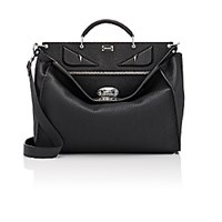 Fendi Men's Peekaboo Selleria Medium Satchel Black Blue Black Blue