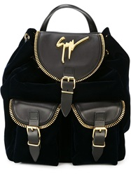 Giuseppe Zanotti Design Signature Backpack Blue