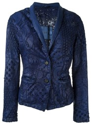 Giorgio Brato Laser Cut Detail Jacket Blue
