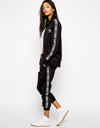 Boy London Zip Front Tracksuit Track Bottoms With Tape Detail Co Ord Black