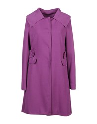 Atos Lombardini Coats And Jackets Full Length Jackets Women Light Purple