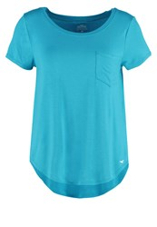 Hollister Co. Musthave Print Tshirt Turquoise