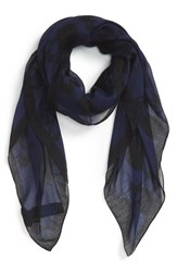 Men's The Kooples 'Skullhead' Print Scarf Blue