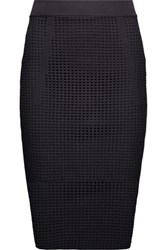 Line Taylor Open Knit Midi Skirt Black