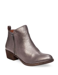 Lucky Brand Basel Zip Up Booties Pewter