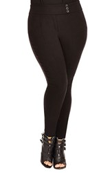 Plus Size Women's City Chic Textured Skinny Pants