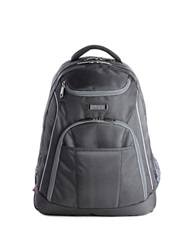 Kenneth Cole Reaction Double Gusset Expandable 17 Inch Computer Backpack Black