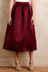 Maeve Alcina Ball Skirt Wine
