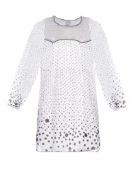 Thierry Colson Poppy Polka Dot Print Cotton Dress White Multi