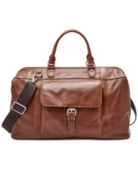 Fossil Estate Leather Framed Duffle Bag