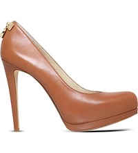 Michael Michael Kors Hamilton Leather Pumps Tan