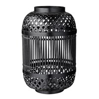Day Birger Et Mikkelsen Bamboo Lantern With Glass Insert Black 25X40cm