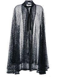 Isa Arfen Semi Sheer Dotted Cardi Coat Black
