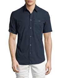 Maison Martin Margiela Short Sleeve Button Down Shirt Navy