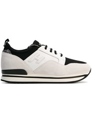 Hogan Panelled Lace Up Sneakers White
