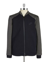 William Rast Colorblocked Zip Up Ink Blue