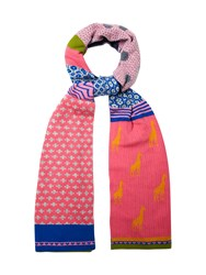 White Stuff Gerri Giraffe Patchwork Scarf Multi Coloured Multi Coloured
