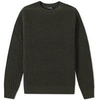 A.P.C. Claude Crew Knit Green