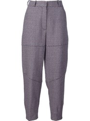 Sonia Rykiel Cropped Tweed Trousers Multicolour