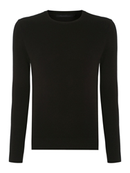 Kenneth Cole Tristian Textured Crew Knit Jumper Black