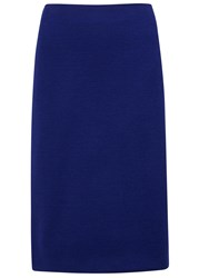 Armani Collezioni Royal Blue Jersey Pencil Skirt