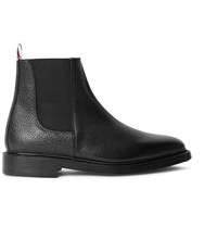 Thom Browne Pebble Grain Leather Chelsea Boots Black