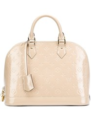 Louis Vuitton Vintage 'Alma' Tote' Nude And Neutrals