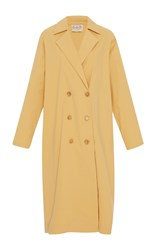 Sea Relaxed Trench Coat Yellow