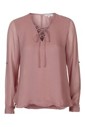 Tie Front Blouse By Glamorous Petites Pink