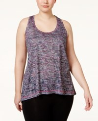 Ideology Plus Size T Back Burnout Space Dyed Tank Top Only At Macy's Spring Multi