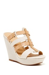Joe's Jeans Evana Wedge Sandal Beige