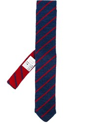 Lardini Striped Neck Tie Blue