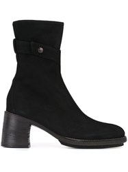 Ann Demeulemeester Side Snap Fastening Boots Black
