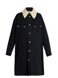 Maison Martin Margiela Detachable Collar Oversized Denim Jacket