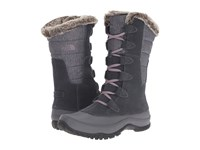 The North Face Nuptse Purna Iron Gate Grey Quail Grey Women's Cold Weather Boots Gray