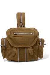 Alexander Wang Marti Mini Textured Nubuck Backpack Tan