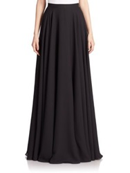 Teri Jon By Rickie Freeman Chiffon Long Skirt Black