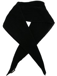 Agnona Pleated Scarf Black