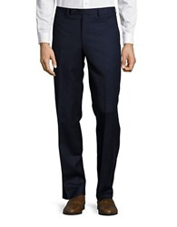 Lauren Ralph Lauren Straight Leg Wool Pants Navy