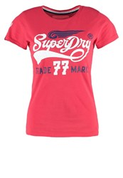Superdry Print Tshirt Indiana Red