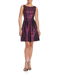 Cynthia Steffe Sophie Jacquard Fit And Flare Dress Grand Rose