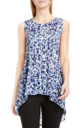 Vince Camuto Women's Two By 'Art Animal' Print Sleeveless High Low Top Optic Blue