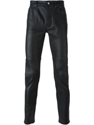 Helmut Lang Slim Leather Trousers Black
