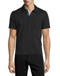 Cnc Costume National Short Sleeve Polo Pullover Black