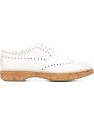 Church's Cork Effect Sole Perforated Brogues White